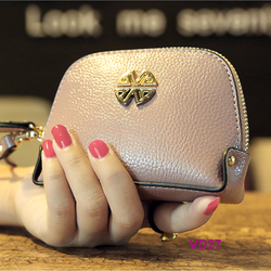 Bóp tiền nữ mini 1 ngăn xinh xắn thời trang màu hồng