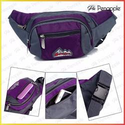 Túi đeo bụng Túi đeo ngang hông dành cho nam nữ đi du lịch Màu tím