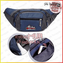 Túi đeo bụng Túi đeo ngang hông dành cho nam nữ đi du lịch - Xanh navy