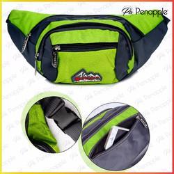 Túi đeo bụng Túi đeo ngang hông dành cho nam nữ đi du lịch Màu Xanh lá