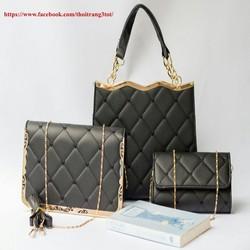 Bộ 3 túi xách da thời trang cao cấp chuẩn VNXK