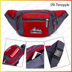 Túi đeo bụng Túi đeo ngang hông dành cho nam nữ dùng đi du lịch Màu đỏ