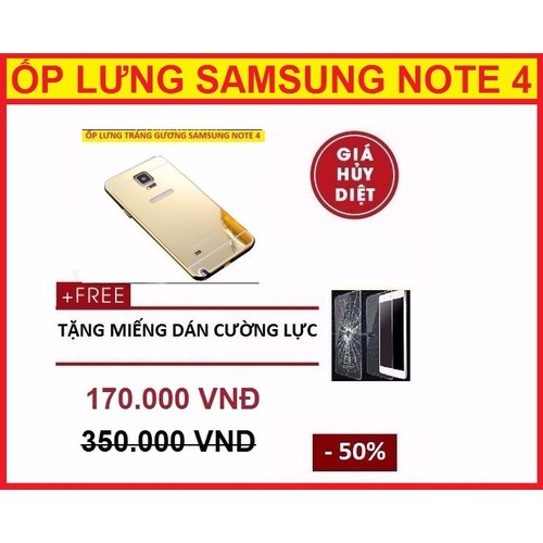 ỐP LƯNG SAMSUNG NOTE 4
