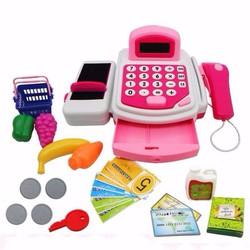 Bộ đồ chơi máy tính tiền siêu thị cho bé