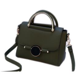 Túi xách nữ cao cấp khóa tròn xanh