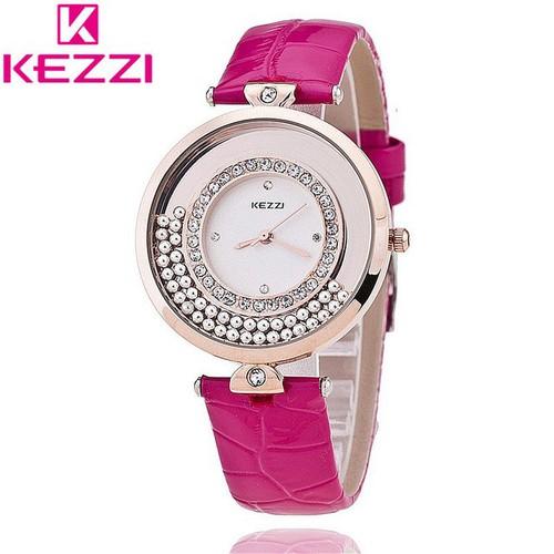 Đồng hồ nữ kezzi đá chạt bên trong mẫu mới