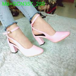 Giày cao gót nữ bích mũi gót vuông cực dể thương cá tính GCN357