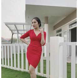 Đầm body đỏ hàng Việt Nam Xuất Khẩu Topshop