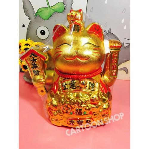 Mèo thần tài vàng vẫy tay 25cm - 5235853 , 8707637 , 15_8707637 , 600000 , Meo-than-tai-vang-vay-tay-25cm-15_8707637 , sendo.vn , Mèo thần tài vàng vẫy tay 25cm