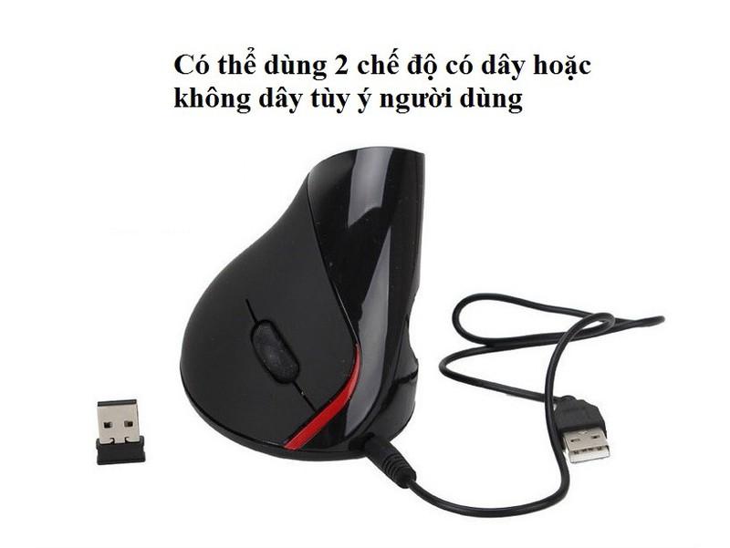 Chuột không Dây Wireless vertical mouse chuột đứng PKCB-WLM 3