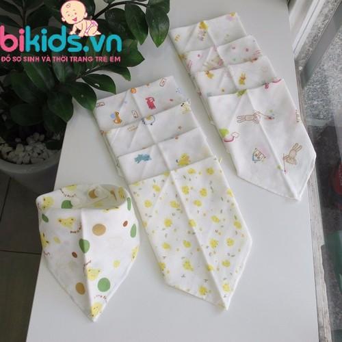 Combo 5 chiếc Khăn yếm xô tam giác Nhật