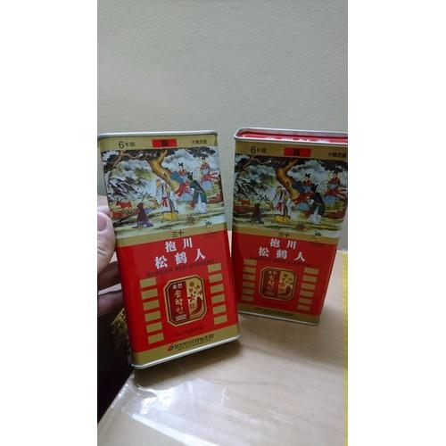 hồng sâm củ khô 75g loại 6 củ