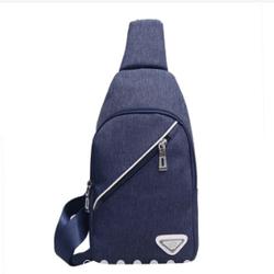 Túi đeo chéo thời trang classic khoá chéo C205 xanh