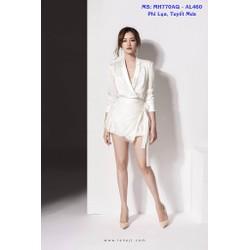 Set Nguyên Bộ Áo Kiểu Tay Dài Quần Short Giả Váy