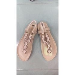 Sandal bánh xe handmade màu kem