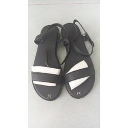 Sandal quai ngang màu đen