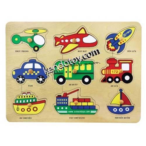 Đồ chơi gỗ | Bộ nhận dạng các phương tiện giao thông
