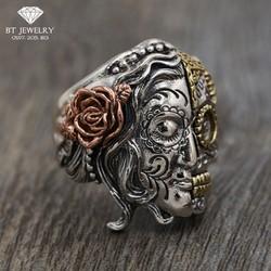 Nhẫn Nam Thánh Nữ Ngủ Quên Chất Liệu Thái S925 Cao Cấp BT Jewelry