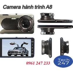 Camera hành trình ô tô A8 cao cấp FULL HD, 2 camera + THẺ 32G