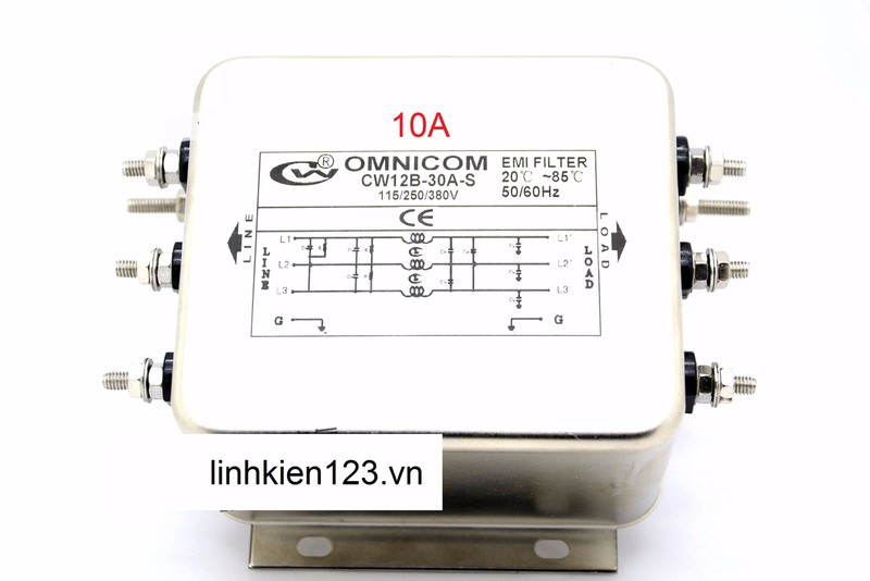 Bộ lọc nhiễu 3 pha 110 380V 10A hàng chính hãng 1