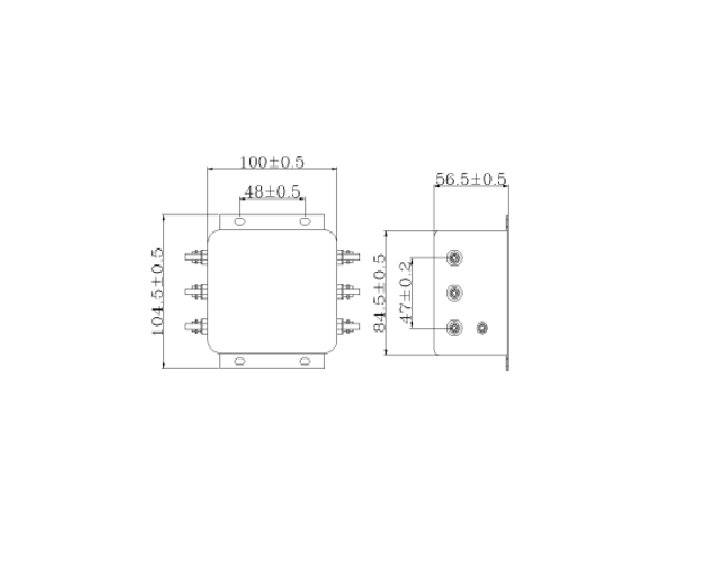 Bộ lọc nhiễu 3 pha 110 380V 10A hàng chính hãng 2