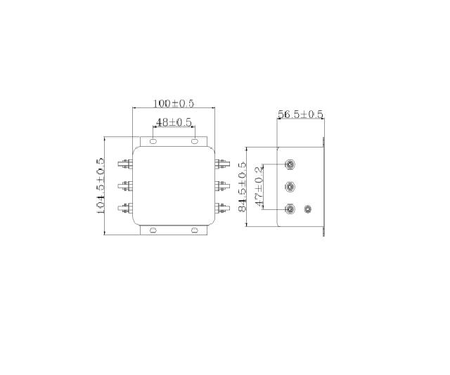 Bộ lọc nhiễu 3 pha 110 380V 20A hàng chính hãng 2