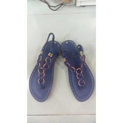Sandal bánh xe handmade màu xanh