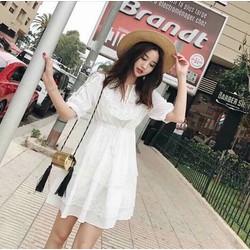Đầm xô xòe phối ren hàng Quảng Châu