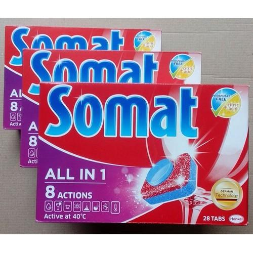 Viên rửa bát Somat 75 viên All in 1 - 10 xtra với công thức 10 in 1