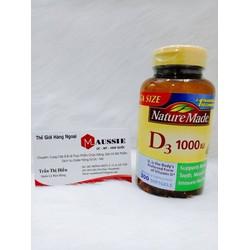 Viên uống bổ sung Vitamin D3 Nature Made Vitamin D3 2000 IU 400 viên