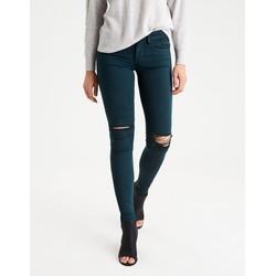 Quần jeans nữ dáng ôm màu xanh cổ vịt