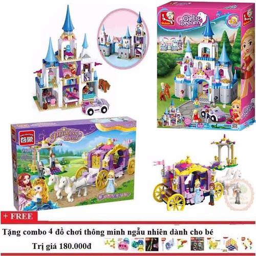 Bộ lego xếp hình combo Sloban 0610+ Enlighten 2605 cho bé gái - 5245597 , 8721057 , 15_8721057 , 1345000 , Bo-lego-xep-hinh-combo-Sloban-0610-Enlighten-2605-cho-be-gai-15_8721057 , sendo.vn , Bộ lego xếp hình combo Sloban 0610+ Enlighten 2605 cho bé gái