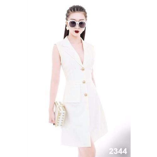 Đầm trắng giả vest dự tiệc - 5244446 , 8719536 , 15_8719536 , 390000 , Dam-trang-gia-vest-du-tiec-15_8719536 , sendo.vn , Đầm trắng giả vest dự tiệc