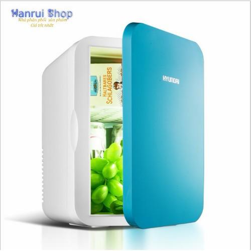 Worldmart tủ lạnh mini 6 lít hyundai điện 12v 220v sử dụng tại nhà hoặc ô tô