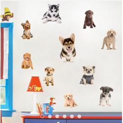 Decal trang trí Bộ sưu tập chó cưng V65