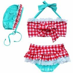 Set bơi bikini 3 món cho bé gái 9-15kg