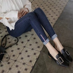 quần nữ Khoe dáng thon thả cùng jean dài bó ống siêu xinh - 115
