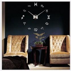 Đồng hồ dán tường DIY 12 cung hoàng đạo Màu Trắng bởi Winwinshop88