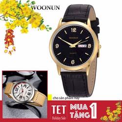 Đồng hồ dây da 2 lịch Woonun AL89