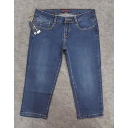 Quần jeans lửng skinny fit của nữ xuất khẩu