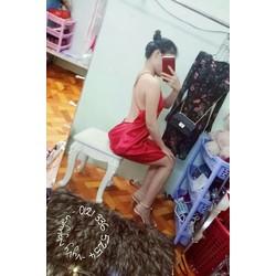 Đầm Yếm Suông Hở Lưng