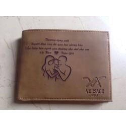 ví nam và ví nữ khắc tên theo yêu cầu