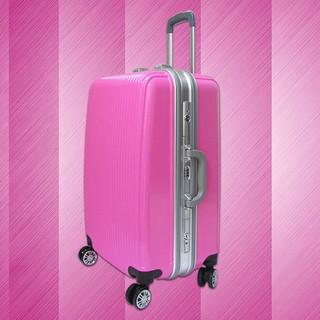 Vali kéo nhựa khung nhôm khóa sập size 20 màu hồng phấn TL049 - TL049-SM thumbnail