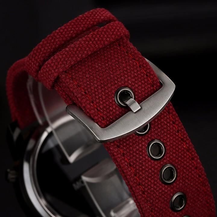 Đồng hồ nam dây vải , đồng hồ tam giác McyKcy 11