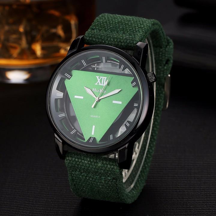 Đồng hồ nam dây vải , đồng hồ tam giác McyKcy 7