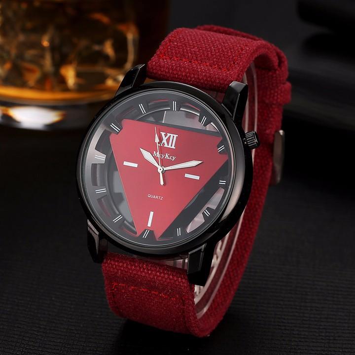 Đồng hồ nam dây vải , đồng hồ tam giác McyKcy 3