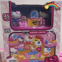 Đồ chơi Xếp hình Hello Kitty 45PCS KTC1368