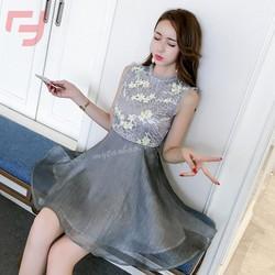 Đầm hotgirl hoa văn họa tiết