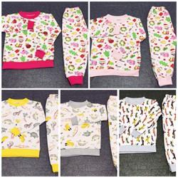 Bộ quần áo dài chất liệu nỉ thun cho bé gái - SongNgan Store