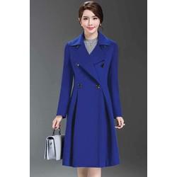 Áo khoác dạ xanh coban
